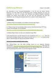 Einführung VMware: - TU Dortmund