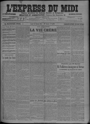 23 octobre 1911 - Bibliothèque de Toulouse - Mairie de Toulouse