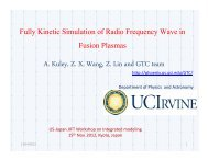 Fully Kinetic Simulation of Radio Frequency Wave ... - Our Home Page