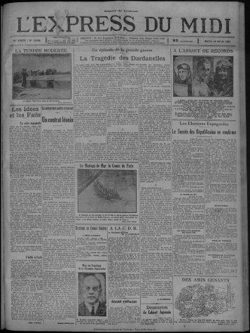 14 avril 1931 - Bibliothèque de Toulouse
