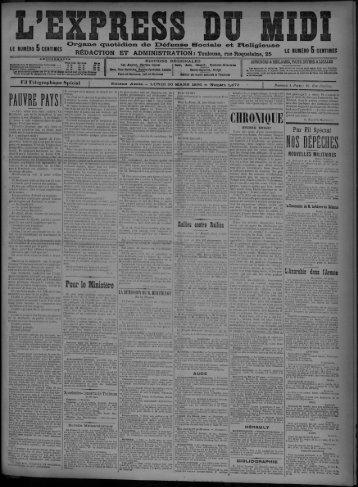 30 mars 1896 - Bibliothèque de Toulouse