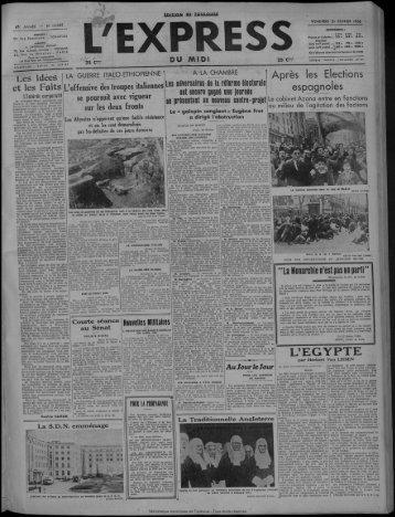 21 février 1936 - Bibliothèque de Toulouse