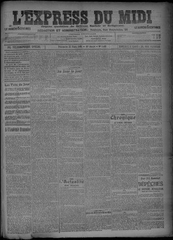 22 Mars 1908 - Bibliothèque de Toulouse