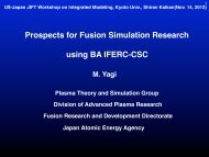 Prospects for Fusion Simulation Research using ... - Our Home Page