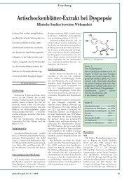 Artischockenblätter-Extrakt bei Dyspepsie Klinische Studien ... - Astral