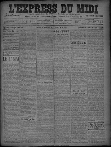 16 Avril 1909 - Bibliothèque de Toulouse