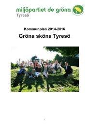 81 Miljöpartiets alternativ till kommunplan 2014-2016.pdf - Insyn