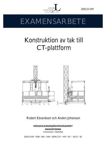 LTU - HIP - EX -- 00/33 --SE - Luleå tekniska universitet