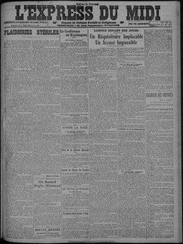 30 novembre 1921 - Bibliothèque de Toulouse