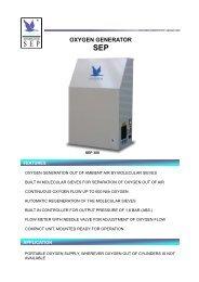 Anseros Oxygen Generator SEP 300