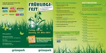 FRÜHLINGS- FEST FRÜHLINGS- FEST - Grüzepark