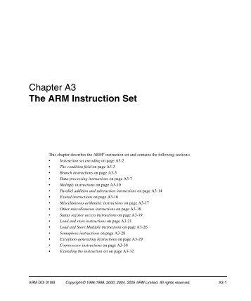 Chapter A6 The Thumb Instruction Setpdf
