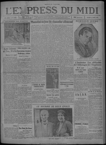 15 août 1931 - Bibliothèque de Toulouse