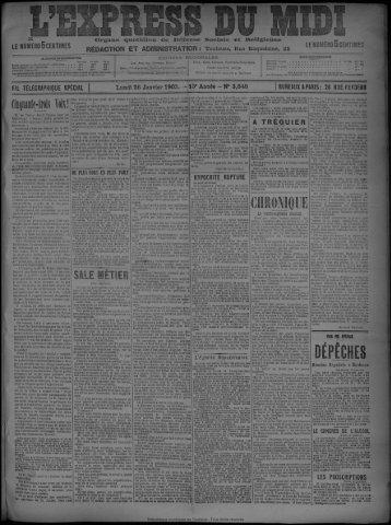 26 Janvier 1903 - Bibliothèque de Toulouse