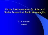 Future Instrumentation for Solar and Stellar Research at Radio ...
