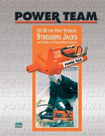 20 or 30 ton Post Tension/Stressing Jacks - Power Team