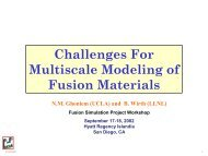 Challenges For Multiscale Modeling of Fusion Materials