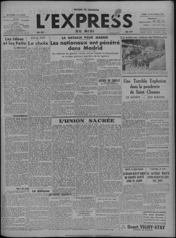 17 novembre 1936 - Bibliothèque de Toulouse