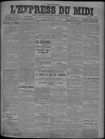 16 février 1917 - Bibliothèque de Toulouse