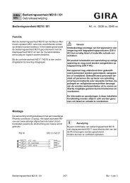 Bedieningseenheid M218 / I01 Gebruiksaanwijzing - Download - Gira