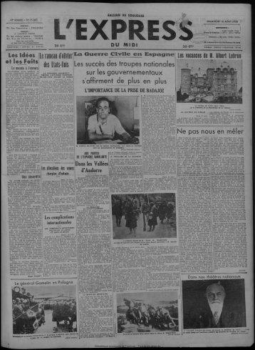 16 août 1936 - Bibliothèque de Toulouse - Mairie de Toulouse