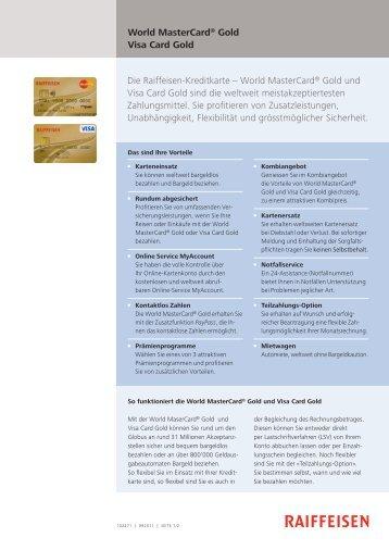 MasterCard/VisaCard Gold - Panorama - Raiffeisen