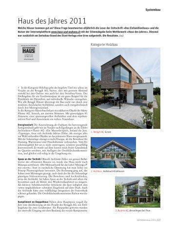 Haus des Jahres 2011 - Panorama