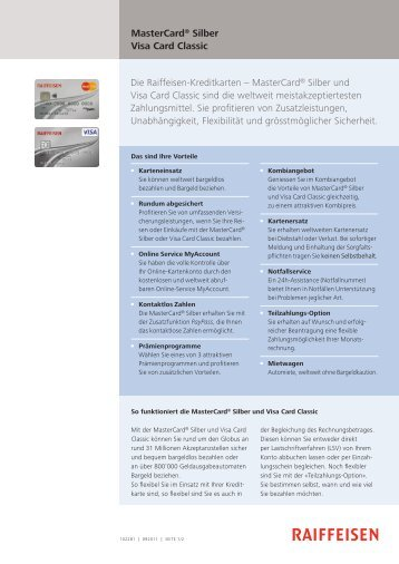 MasterCard/VisaCard Silber - Panorama - Raiffeisen