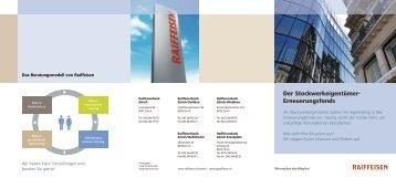 Der Stockwerkeigentümer- Erneuerungsfonds - Panorama - Raiffeisen