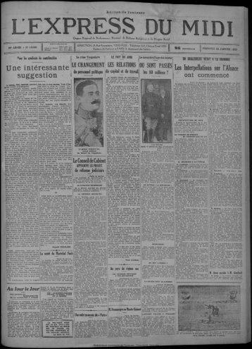 25 janvier 1929 - Bibliothèque de Toulouse