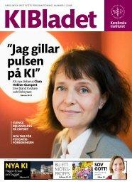 """Jag gillar pulsen på KI"""" - Karolinska Institutet"""