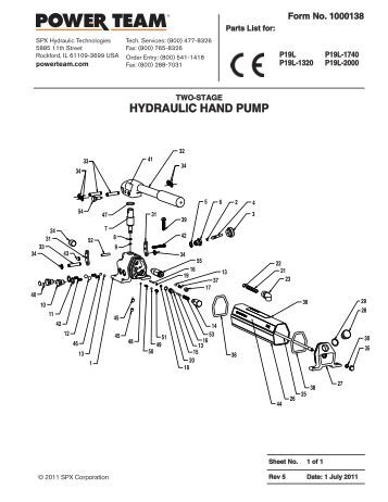 Power Team Hydraulic Jacks Small Hyd Jacks Wiring Diagram
