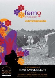 Undervisningsmateriale om Femø kvindelejr