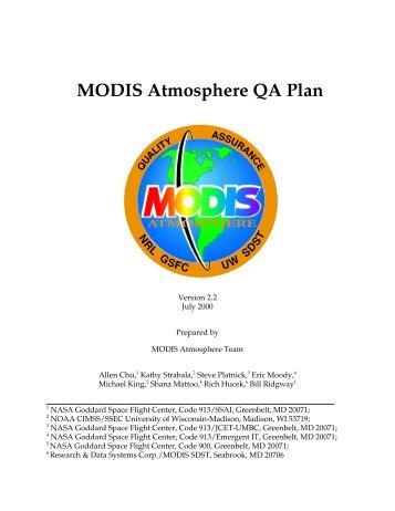 Atmosphere QA Plan - MODIS Atmosphere - NASA