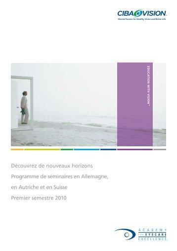 Découvrez de nouveaux horizons Programme de séminaires en ...