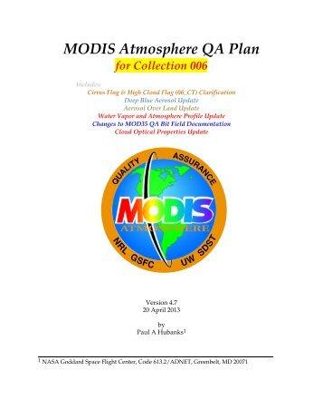 MODIS Atmosphere QA Plan - MODIS Atmosphere - NASA