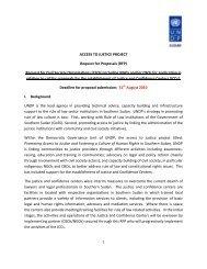 Request for Civil Society Organizations (CSOs) - UNDP Sudan Intranet