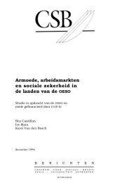 Armoede, arbeidsmarkten en sociale zekerheid in de landen van de ...