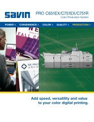 Download Brochure - Savin Corporation