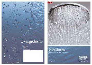 Nye dusjer www.grohe.no