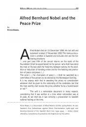 Alfred Bernhard Nobel and the Peace Prize, Alfred Bernhard ... - ICRC
