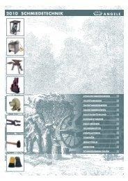 ANGELE-Schmiedetechnik Katalog 2010