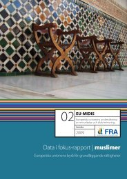 Data i fokus-rapport | muslimer - Europa