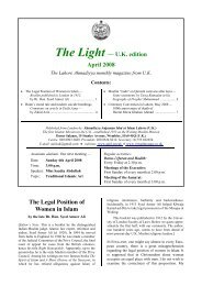 The Light, U.K. edition, April 2008 - Ahmadiyya Anjuman Isha'at-e ...