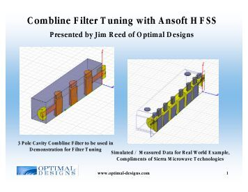Combline Cavity Filter Design in HFSS