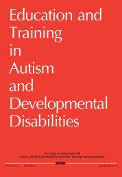 Education and Training in Autism and Developmental Disabilities