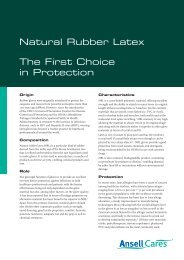 Natural Rubber Latex - Ansell Healthcare Europe