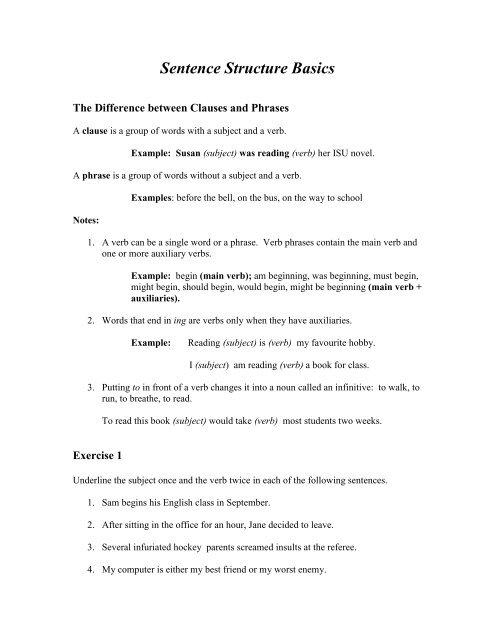 Sentence Structure Basic1 pdf