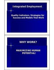 Paul Wehman's PowerPoint Presentation (PDF)