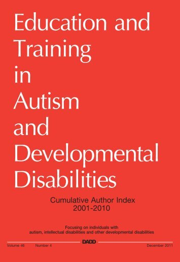 etadd_46(4) - Division on Autism and Developmental Disabilities
